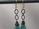 Turquoise Colored Magnesite Drop Earrings