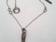 Bronze Spike and Stering Silver Necklace