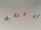 Small Sterling Silver Hand Fabricated Flower Post Earrings