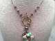 Czech glass flower cluster with twig clasp necklace