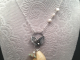 Yellow Calcite, Sterling Silver and Freshwater Pearl Necklace