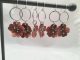 Copper Flower Earrings with Sterling Silver Accents (1pr)