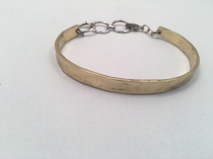 Brass and Sterling Silver Cuff Bracelet