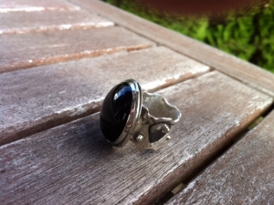 Onyx Melted Ring